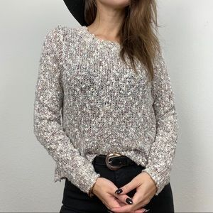 Sun & Shadow Speckled knit sweater